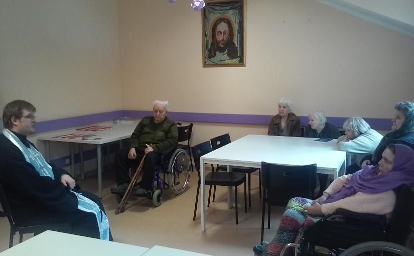 Молебны в домах престарелых «Антавиляй» и «Сеневита»