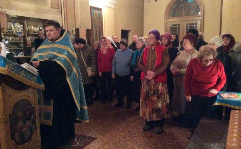 Молебен для добровольцев социального служения Вильнюсского благочиния.