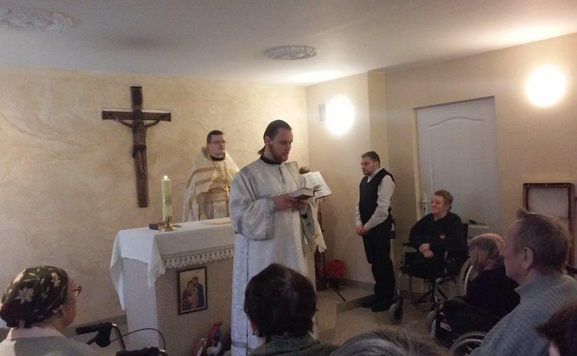 Божественная Литургия в «Antavilių seneliu pensionatas»
