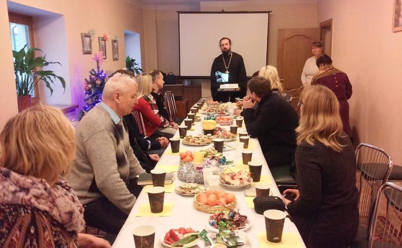 Рождественская встреча с добровольцами социального служения