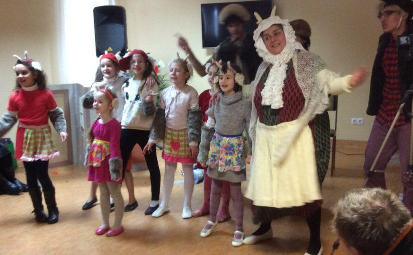 Рождественское поздравление в доме опеки в Прудишкес