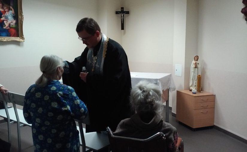 Молебен в больнице Šv. Roko
