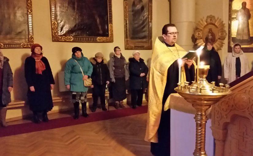 Молебен для добровольцевВильнюсского благочиния