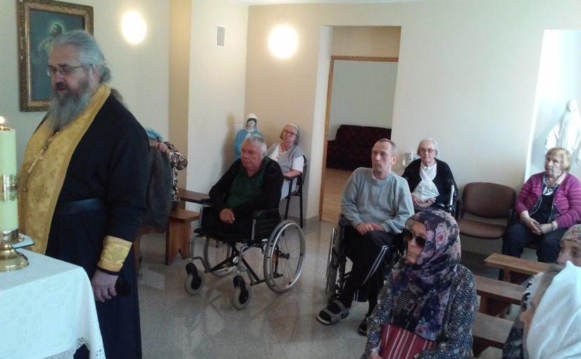Духовное окормление в доме престарелых в Антавиляй