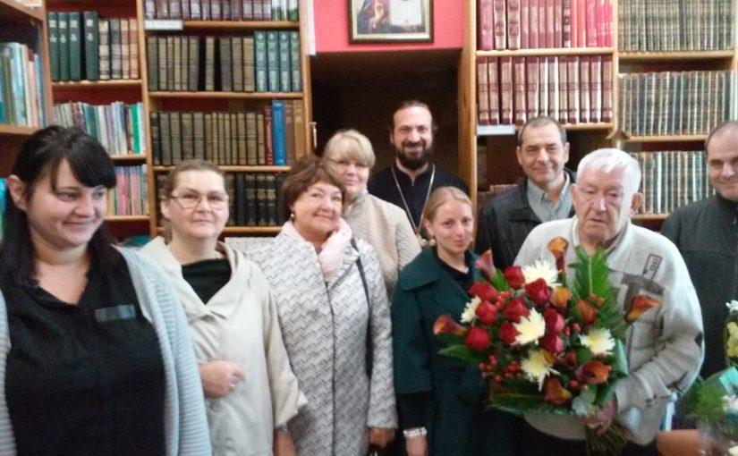 Юбилей старейшего работника Свято-Духова монастыря