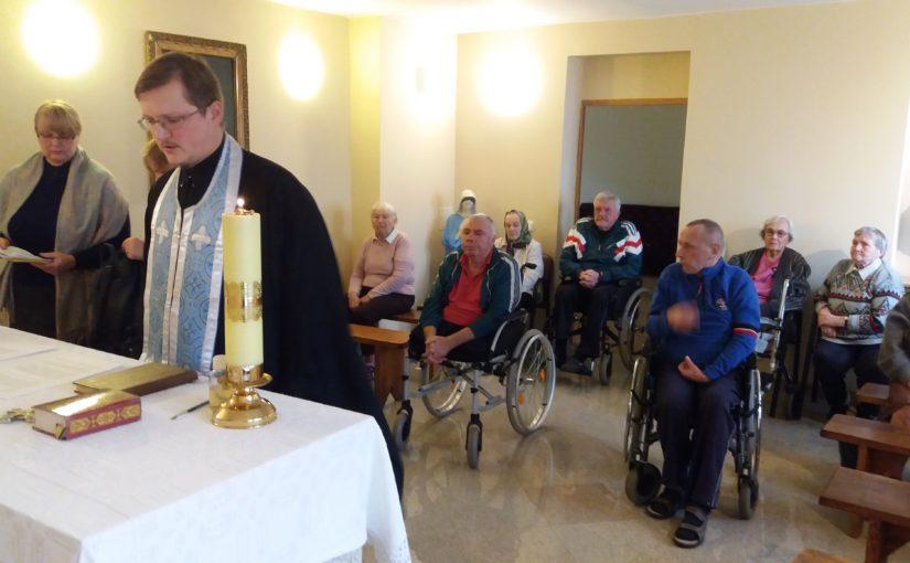 Обедница в доме престарелых Antavilių pensionatas