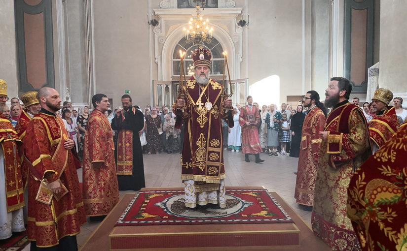 Праздничное богослужение в день памяти свв. Виленских мучеников