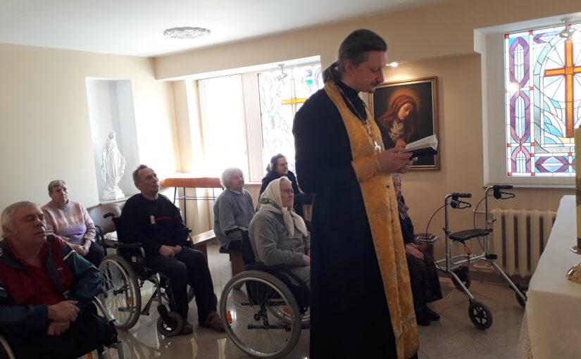 В день отдания праздника Сретения Господня 22 февраля в доме престарелых в Антавиляй был отслужен молебен о здравии.