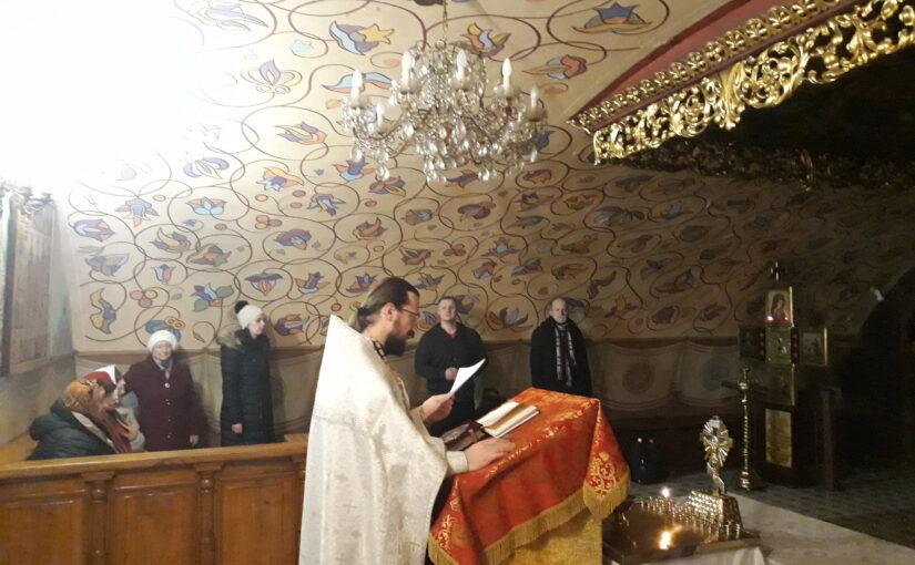 Молебен для добровольцев социального служения Свято-Духового монастыря