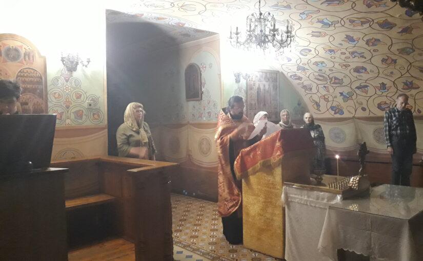 Молебен для добровольцев милосердного служения Свято — Духова монастыря