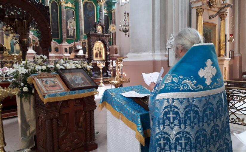 Молебен для добровольцев Свято-Духова монастыря