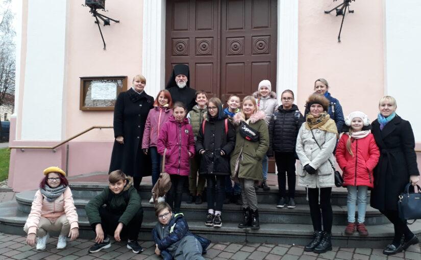 Экскурсия школьников в Свято-Духов монастырь
