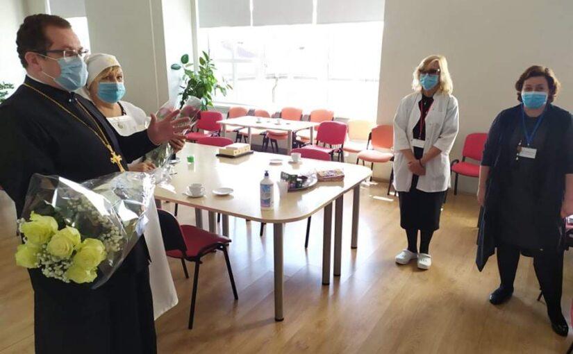 Поздравление с Днем Социального работника в больнице Вилкпедес г.Вильнюса