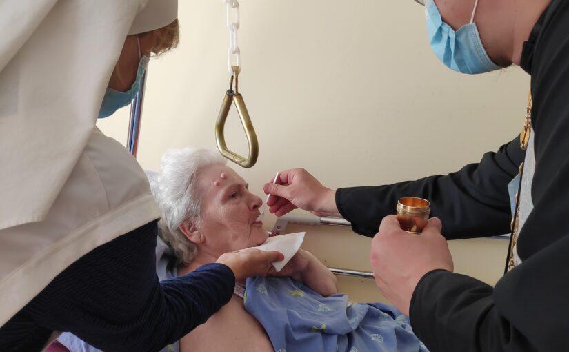 Духовное окормление в доме престарелых  «Антавиляй»