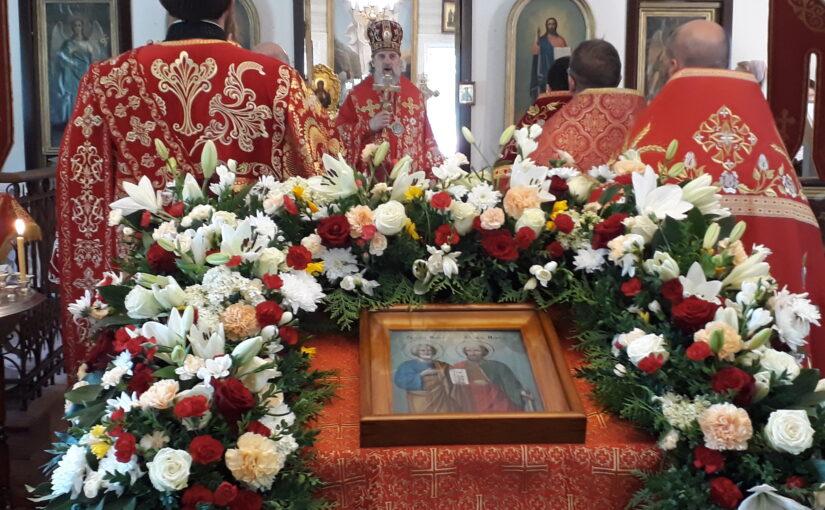 Престольный праздник в храме  первоверховных апостолов Петра и Павла в Вильнюсе