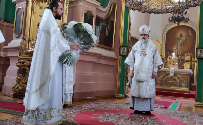 Богослужение в Свято-Духовом монастыре в день Преображения и 40-летия священнической хиротонии правящего архиерея
